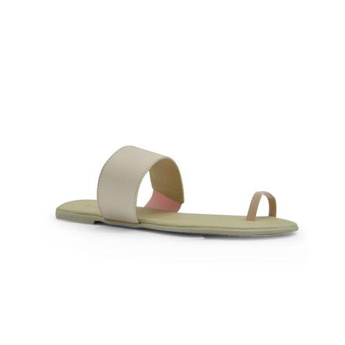 Sandalia-plana-de-color-rosado
