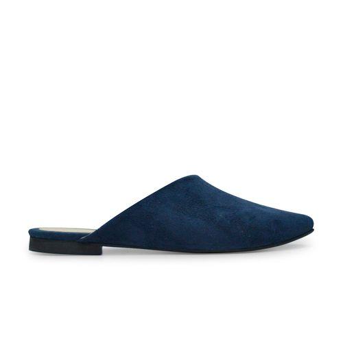 Zueco-plano-de-color-azul