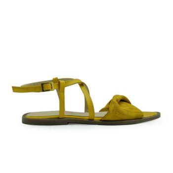 Sandalia-plana-de-color-amarillo