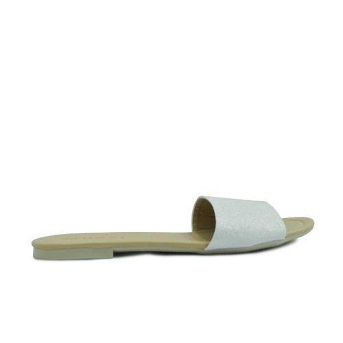 Sandalia-plana-de-color-blanco