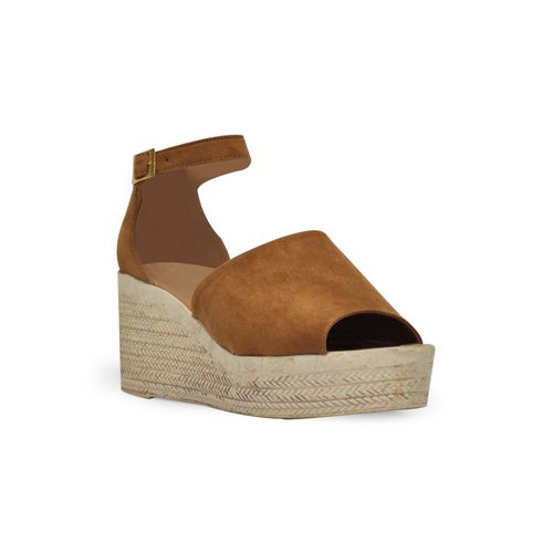 Sandalia-plataforma-de-color-miel
