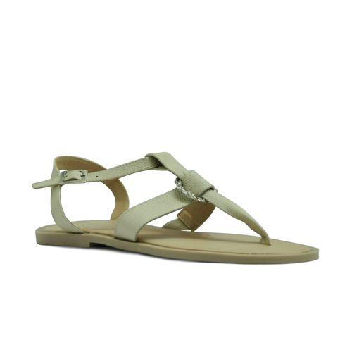 Sandalia-plana-de-color-hueso