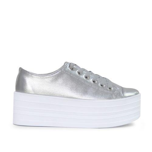 Tenis-de-color-plata