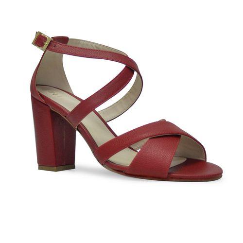 Sandalia-tacon-de-color-rojo