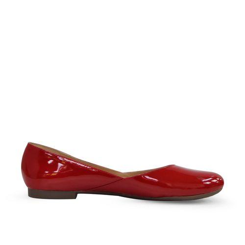 Baleta-plana-de-color-rojo