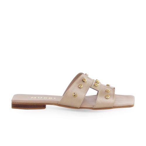 Sandalia-plana-de-cuero-oro