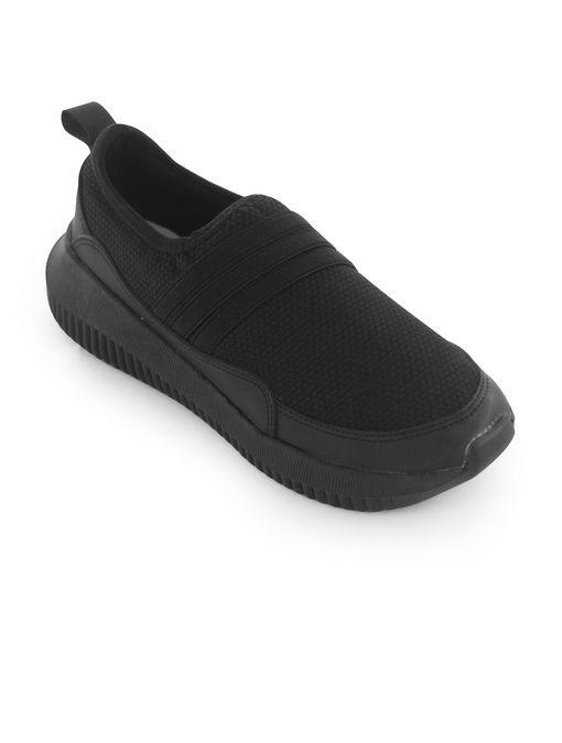 Tenis-de-textil-negro