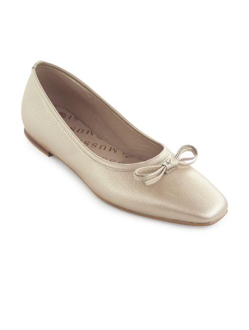 Baleta-plana-de-cuero-oro