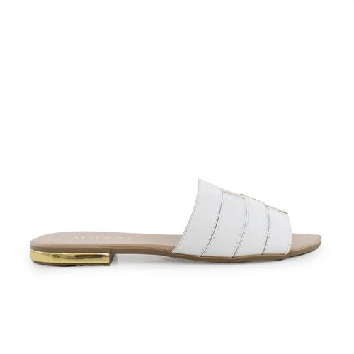 Sandalia-plana-de-cuero-blanco-