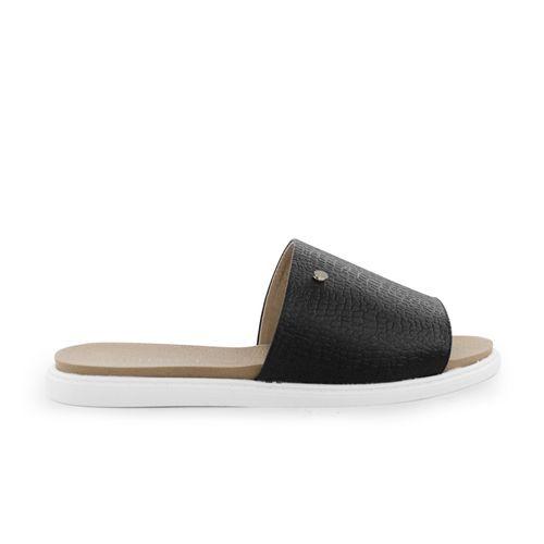 Sandalia-plana-de-cuero-negro