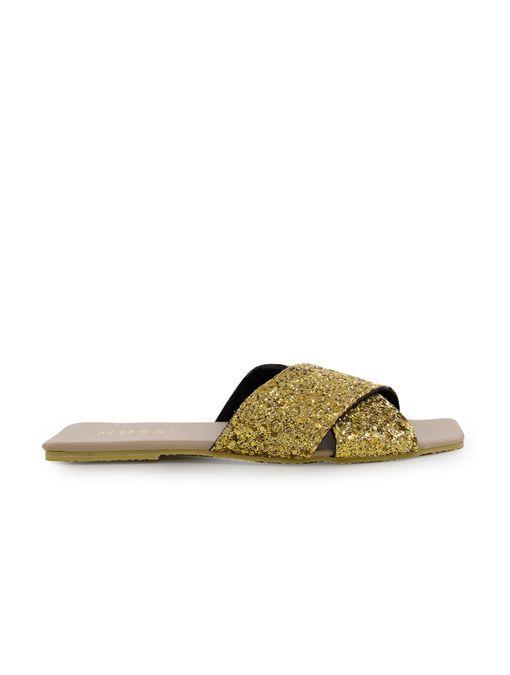 Sandalia-plana-de-sintetico-oro