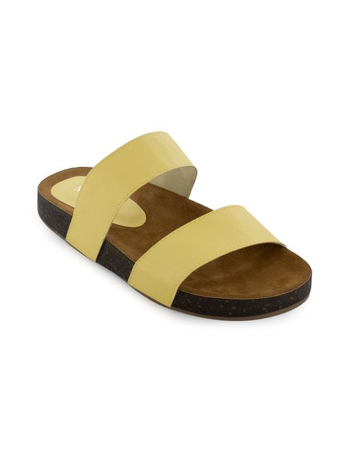 Sandalia-plana-de-sintetico-amarillo