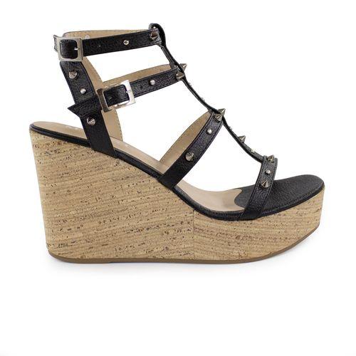 Sandalia-plataforma-de-cuero-negro