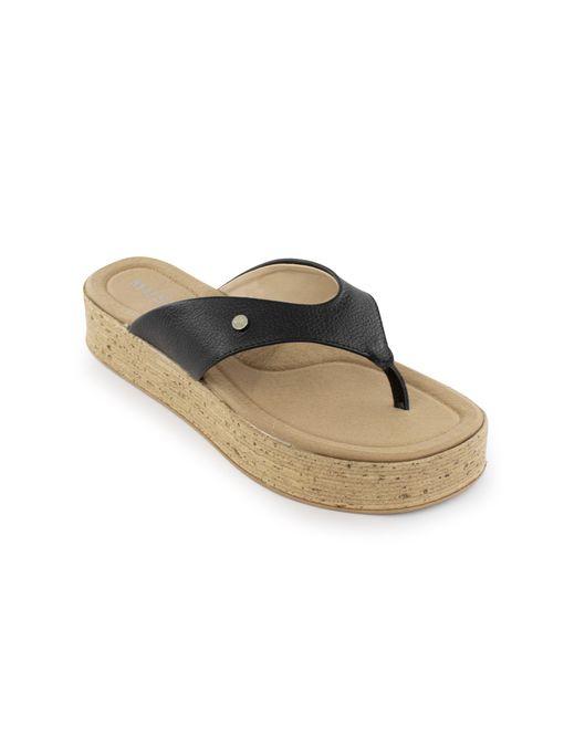 Sandalia-flatform-de-cuero-negro