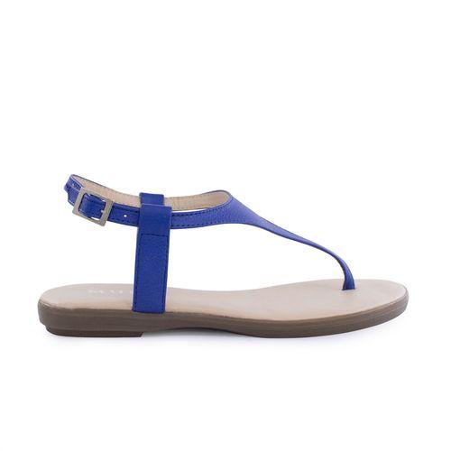 Sandalia-plana-de-cuero-azul